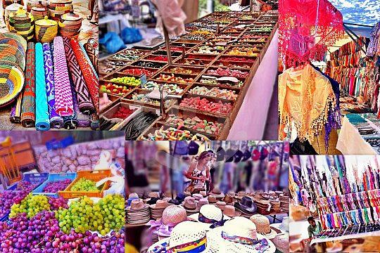 Textilien Wochenmarkt Inca Tour