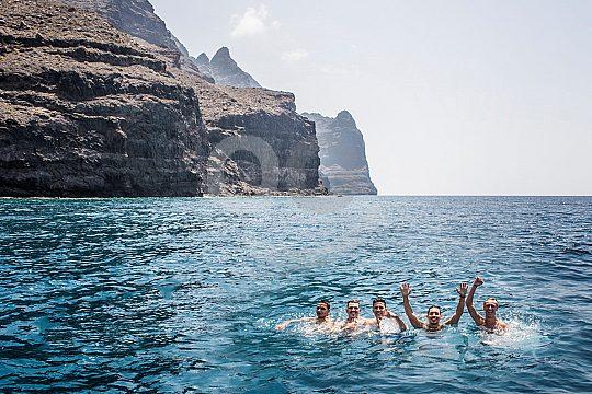 Badepause beim Wale und Delfine beobachten Gran Canaria