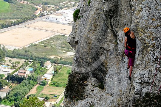 Steilwand-Klettern Mallorca