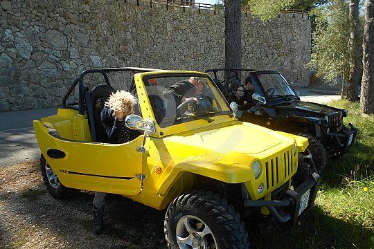 aufregende Tour ab Cala Millor im Mini Jeep