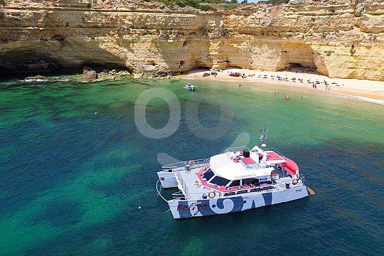 Badebucht an der Algarveküste