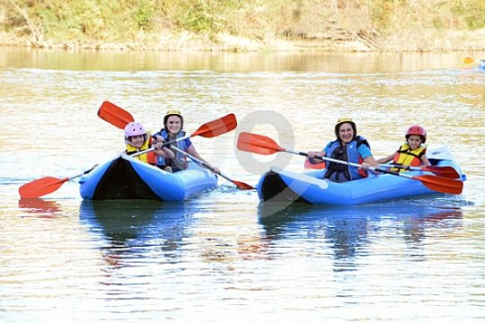 Kanu Rafting auf dem Iznajár Stausee