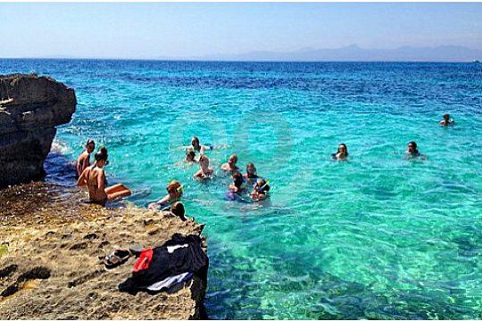 Badepause bei der Strand Jeep Safari auf Mallorca
