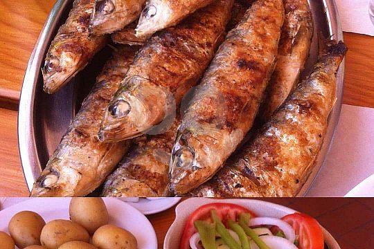 Essen in Culatra mit einer Bootstour