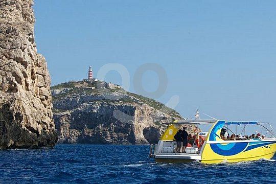 Cabrera Ausflug mit dem Speedboot