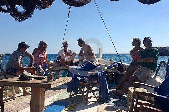 Gäste an Bord auf Rhodos