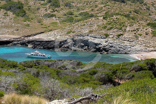 türkisblaue Bucht