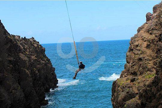 Nach dem Bungee Sprung in Gran Canaria