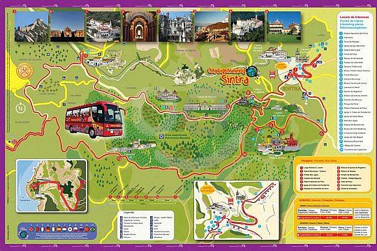 Sintra Rundfahrt Karte