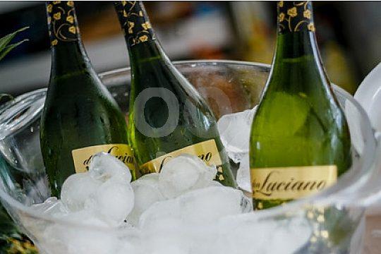 Champagner eisgekühlt