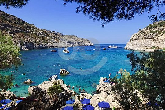 Anthony Quinn Bay Nordosten Rhodos