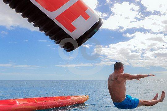 spaßige Wasserrutsche Glasbodenboot Fuerteventura