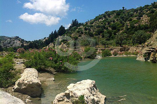 Fluss Gaidouras in Rhodos Osten
