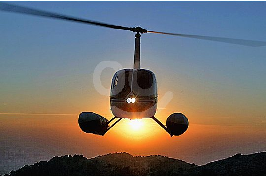 helikopter bei sunset