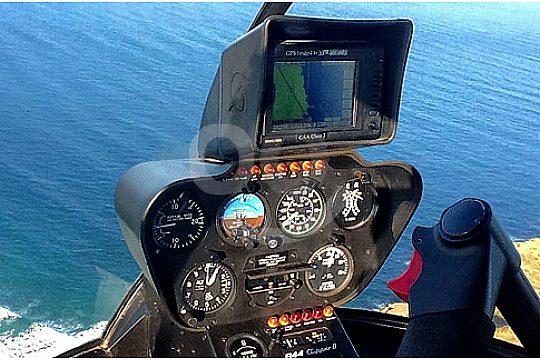 hubschrauber rundflug cockpit technik