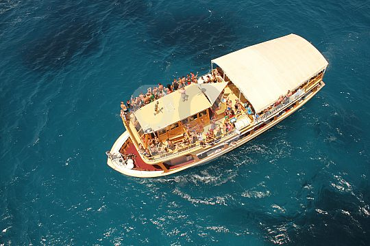 Mit der Barca Samba an der Playa de Palma