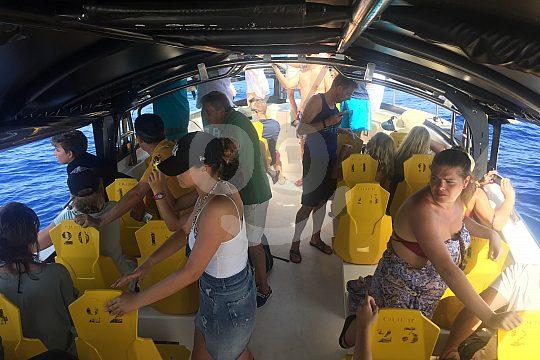 Passagiere bei Delfin- und Wal Beobachtung Gran Canaria