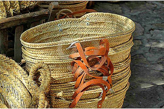 Körbe Inca Wochenmarkt Tour