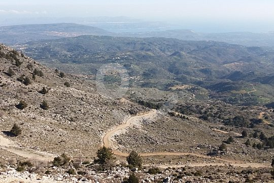 Blick aufs Gebirge bei Jeep Safari ab Chania