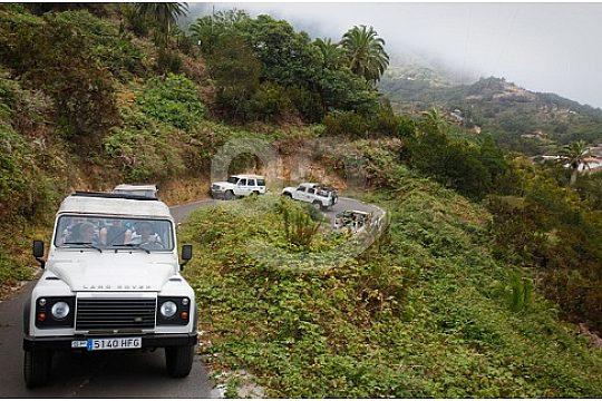Offroad Wege durch die Wälder auf der Gomera bei der Jeep Safari ab Playa de las Americas