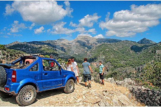 jeep safari in der sierra tramuntana auf Mallorca