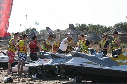 Jet Ski Safari Gruppe auf Kreta