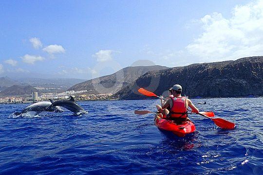 mit dem Kayak auf Teneriffa