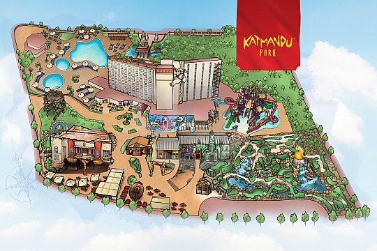 Katamandu Park Mallorca Map