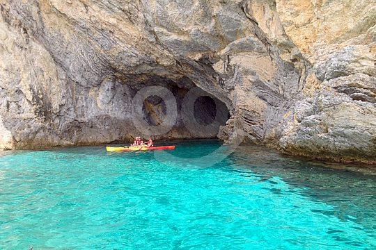 Höhle Kayak Tour Mallorca Sonnenuntergang