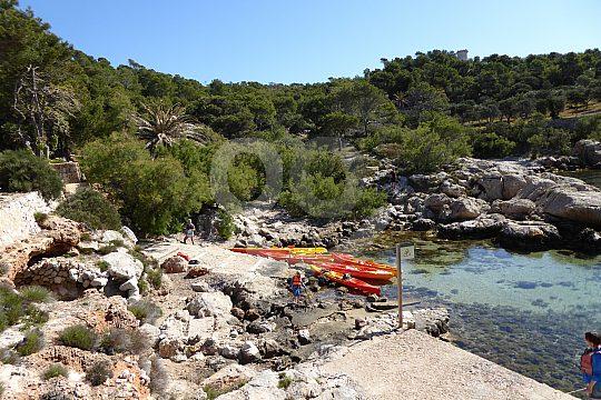 Pause beim Kayak Ausflug in Mallorca