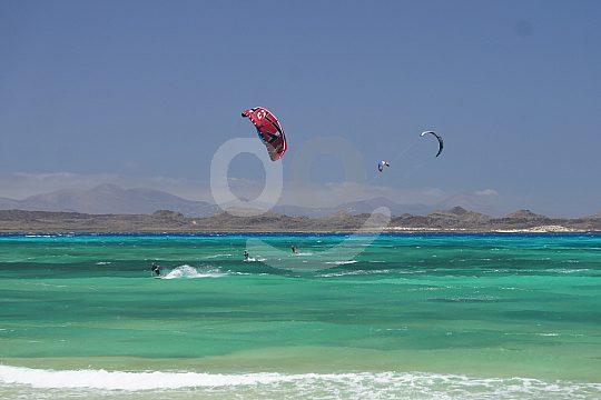 Das Kitesurfing auf Fuerteventura lernen