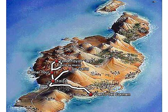 Route der kleinen Inseltour auf Lanzarote