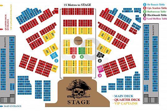 Sitzplan der Tickets für die Pirates in Mallorca