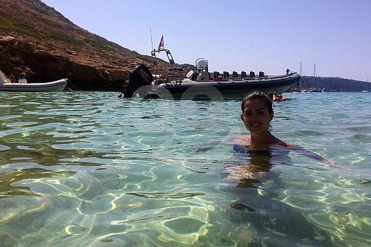 Abkühlung auf Mallorca Speedboot Tour