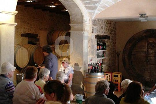Besuch eines Weinkellers in Mallorca