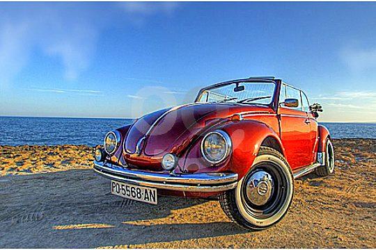 Oldtimer Modell VW Beetle Cabrio