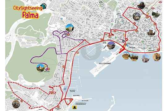 Bus Haltestellen City Sightseeing Bus Palma de Mallorca