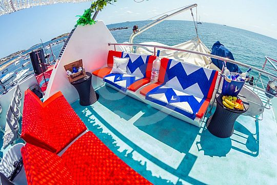 VIP Area Partyboot Playa den Bossa