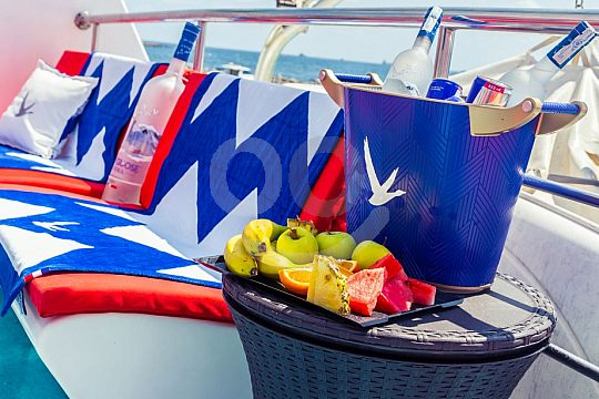 Party Boot mit VIP Lounge