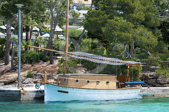tradionelle Llaut Boot auf Mallorca
