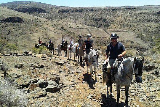in den Bergen von Gran Canaria reiten