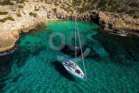 Segelstopp vor der Küste von Mallorca