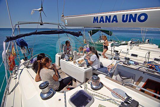 Relaxen auf dem Segelboot Mallorca
