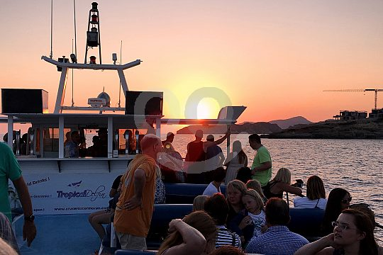 Bootsfahrt zum Sonnenuntergang in Mallorca