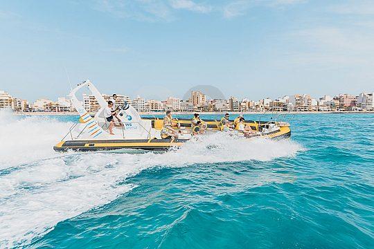 Speedboot fahren im Süden Mallorcas