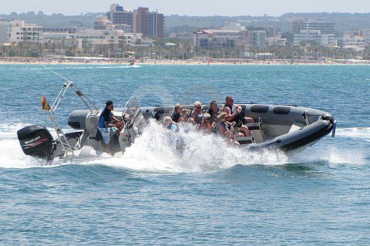Bootstour mit Tempo vor Palma