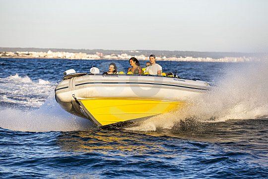 von Arenal aus im Speedboot