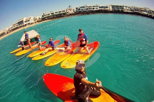Stand Up Paddle SUP Kurs Lanzarote