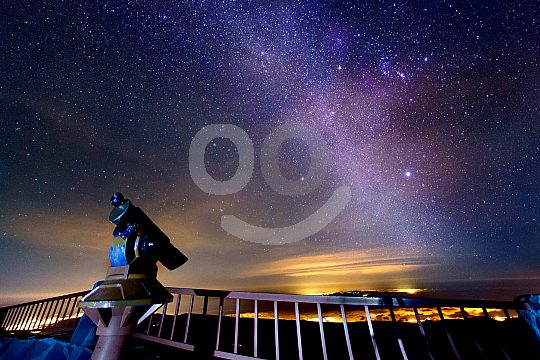 Sunset and Stars Fernrohr Teide Teneriffa