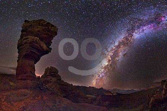Sunset and Stars Roques de Garcia Teneriffa